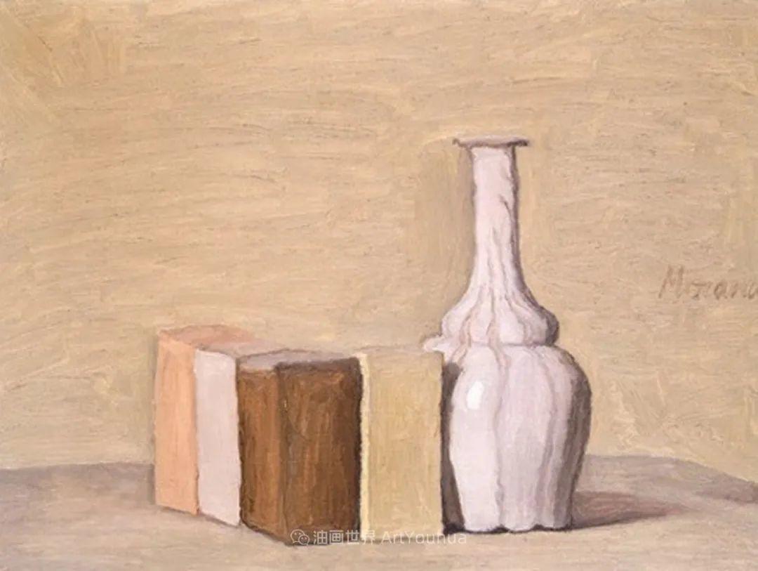 莫兰迪几乎从来不用鲜亮的颜色,把几只瓶子画了一生!插图73