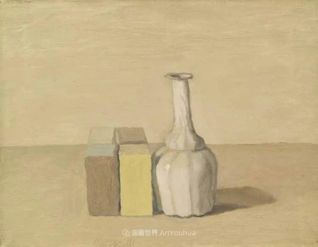 莫兰迪几乎从来不用鲜亮的颜色,把几只瓶子画了一生!插图111