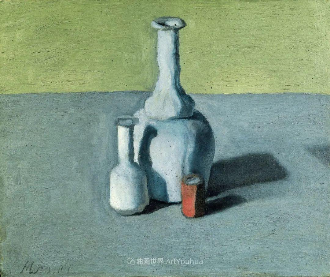 莫兰迪几乎从来不用鲜亮的颜色,把几只瓶子画了一生!插图133