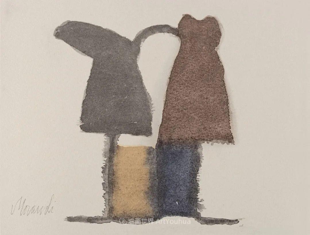 莫兰迪几乎从来不用鲜亮的颜色,把几只瓶子画了一生!插图139