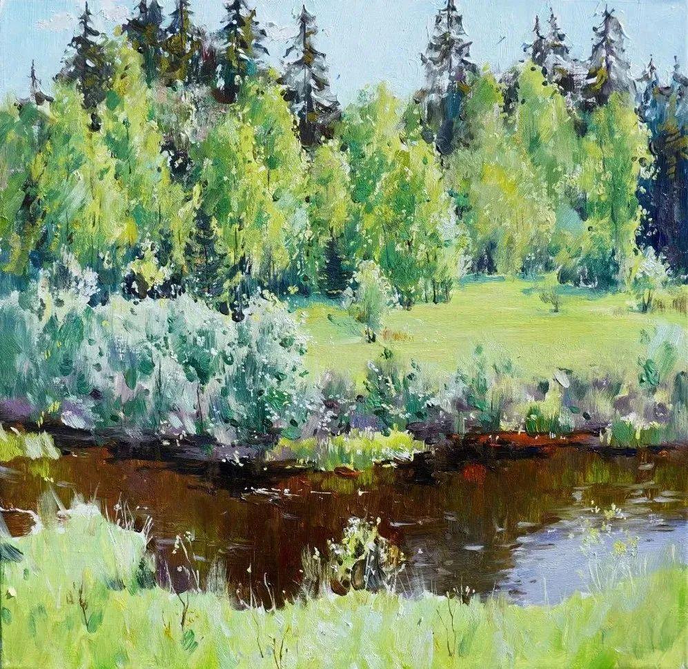 色感很清新,俄罗斯画家安东·维亚切斯拉维奇插图7