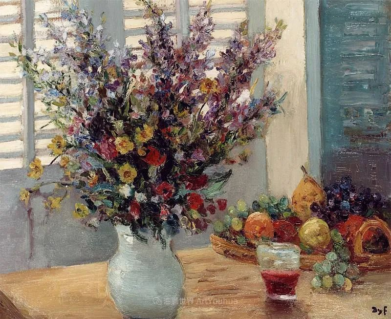 光与氛围感的出色表现,法国印象派画家马塞尔·戴夫插图49