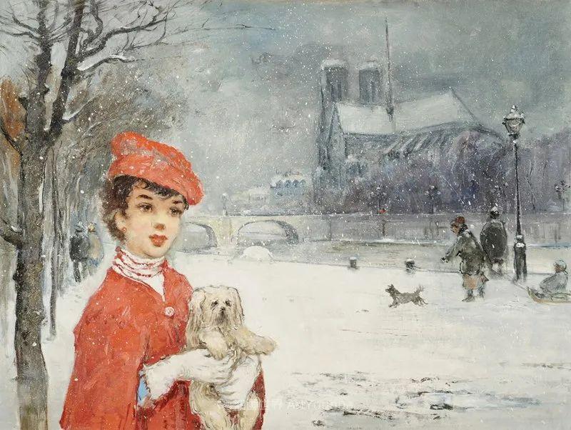 光与氛围感的出色表现,法国印象派画家马塞尔·戴夫插图93