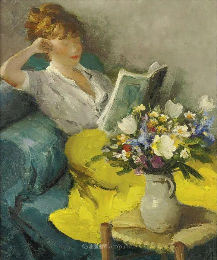 光与氛围感的出色表现,法国印象派画家马塞尔·戴夫插图104