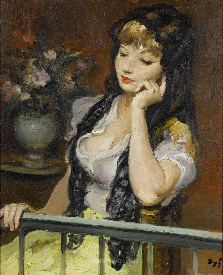 光与氛围感的出色表现,法国印象派画家马塞尔·戴夫插图106