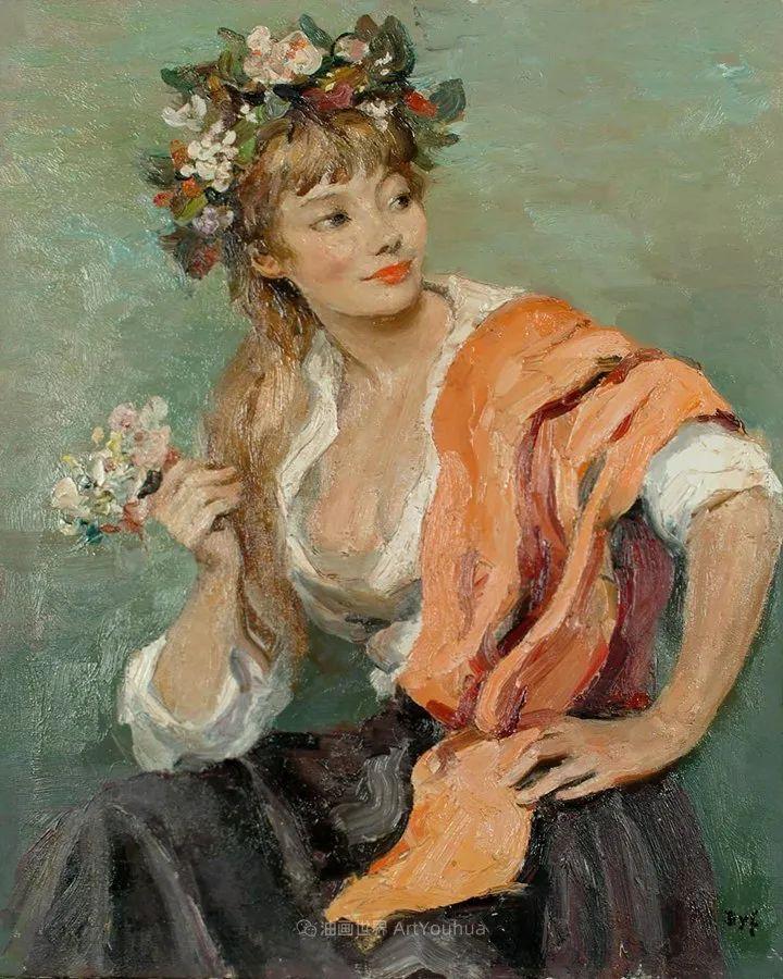 光与氛围感的出色表现,法国印象派画家马塞尔·戴夫插图108