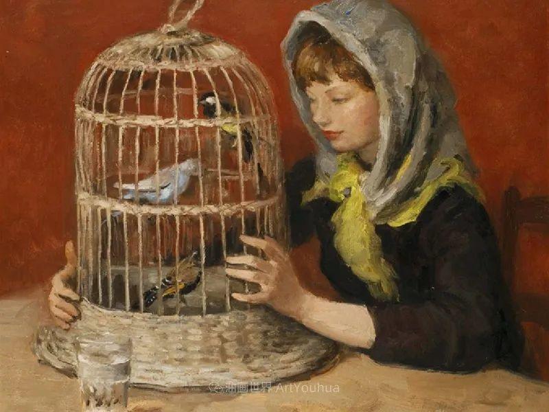 光与氛围感的出色表现,法国印象派画家马塞尔·戴夫插图110