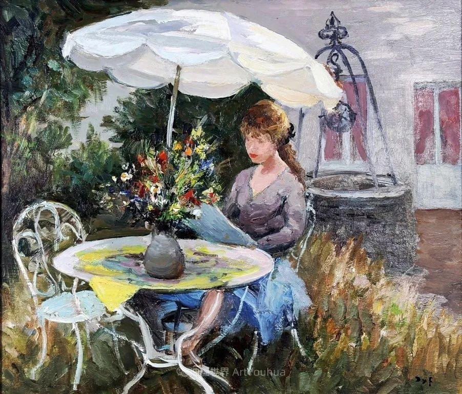 光与氛围感的出色表现,法国印象派画家马塞尔·戴夫插图112