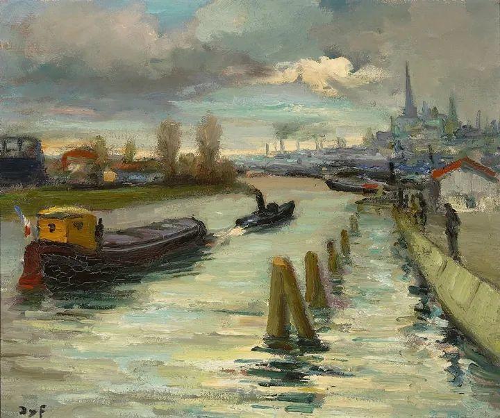 光与氛围感的出色表现,法国印象派画家马塞尔·戴夫插图120