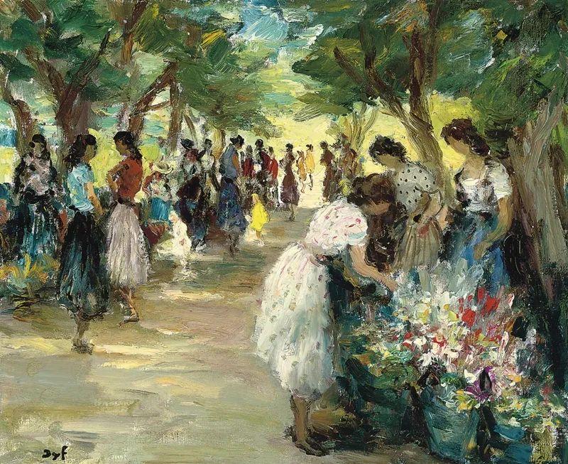 光与氛围感的出色表现,法国印象派画家马塞尔·戴夫插图122