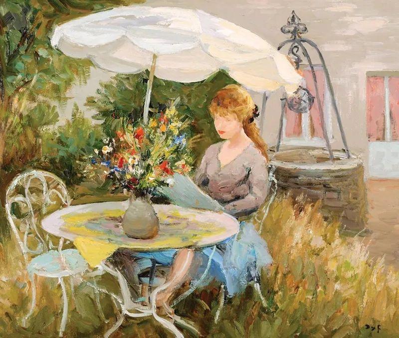 光与氛围感的出色表现,法国印象派画家马塞尔·戴夫插图124