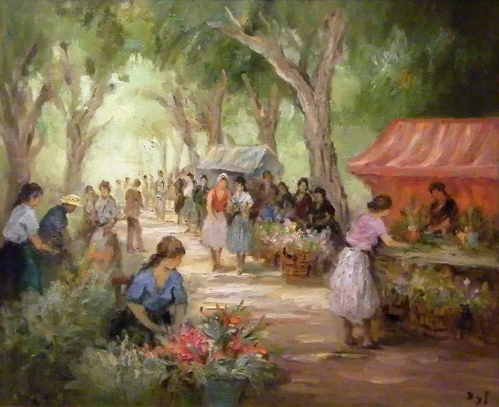 光与氛围感的出色表现,法国印象派画家马塞尔·戴夫插图130