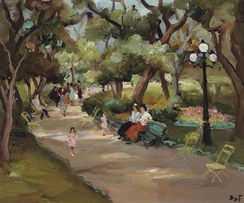 光与氛围感的出色表现,法国印象派画家马塞尔·戴夫插图132