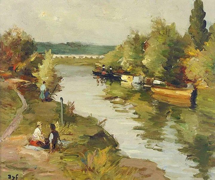 光与氛围感的出色表现,法国印象派画家马塞尔·戴夫插图134