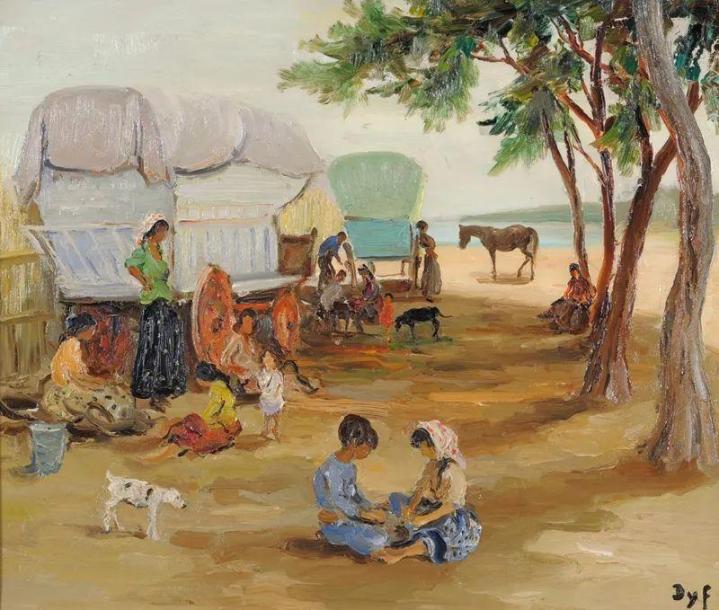 光与氛围感的出色表现,法国印象派画家马塞尔·戴夫插图138