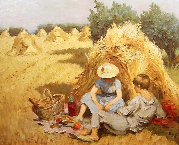 光与氛围感的出色表现,法国印象派画家马塞尔·戴夫插图140
