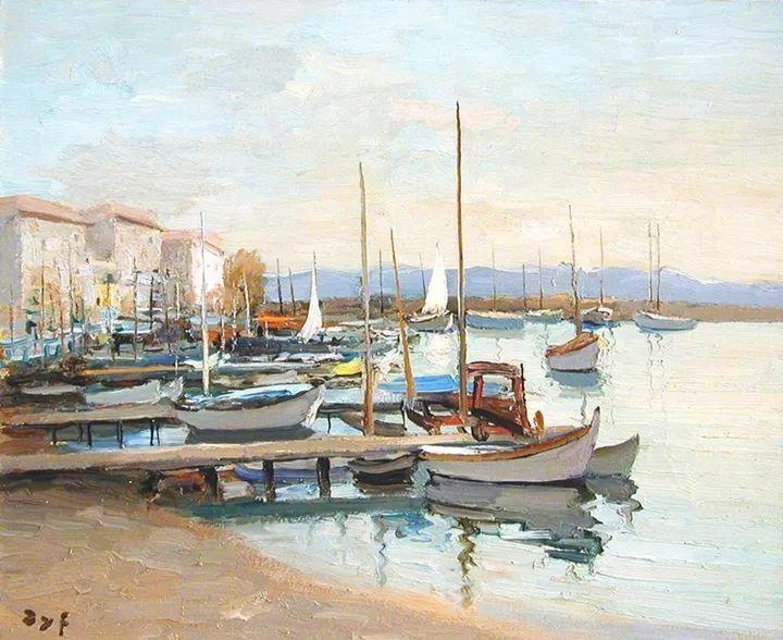 光与氛围感的出色表现,法国印象派画家马塞尔·戴夫插图142