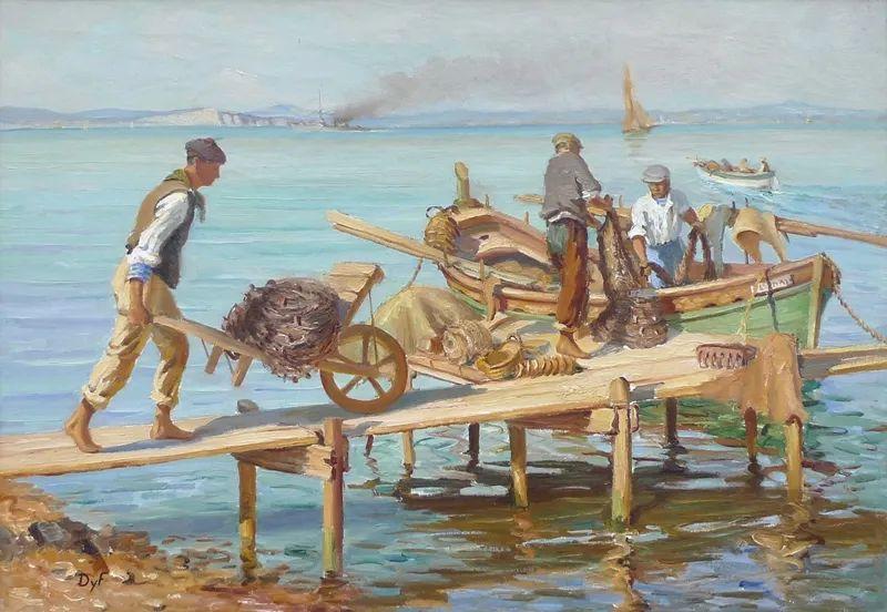 光与氛围感的出色表现,法国印象派画家马塞尔·戴夫插图144