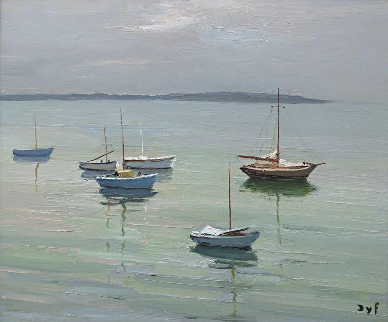 光与氛围感的出色表现,法国印象派画家马塞尔·戴夫插图146