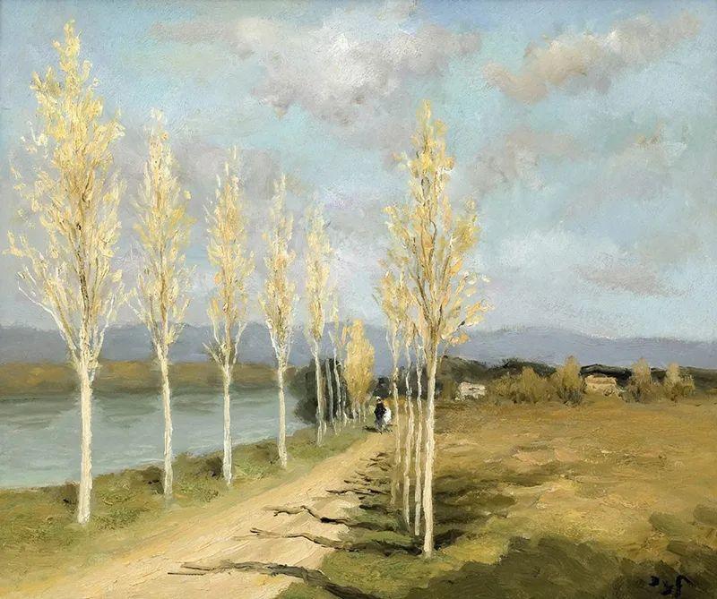 光与氛围感的出色表现,法国印象派画家马塞尔·戴夫插图148