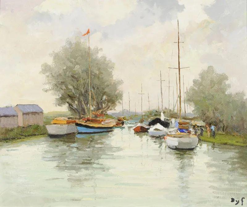 光与氛围感的出色表现,法国印象派画家马塞尔·戴夫插图154