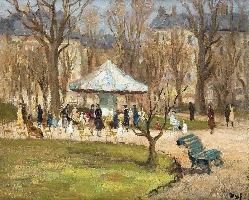 光与氛围感的出色表现,法国印象派画家马塞尔·戴夫插图158