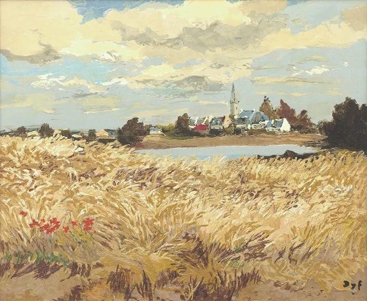 光与氛围感的出色表现,法国印象派画家马塞尔·戴夫插图160