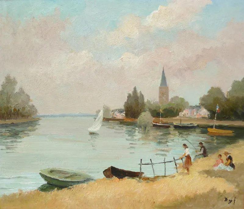 光与氛围感的出色表现,法国印象派画家马塞尔·戴夫插图164