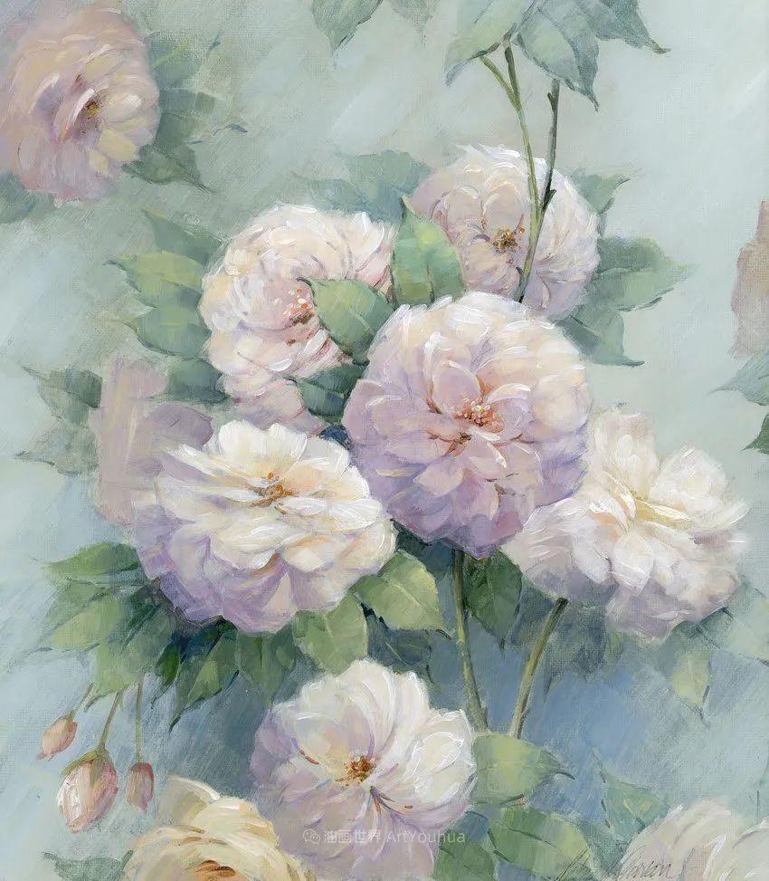 清新淡雅的花卉,英国画家彼得·麦高文插图1