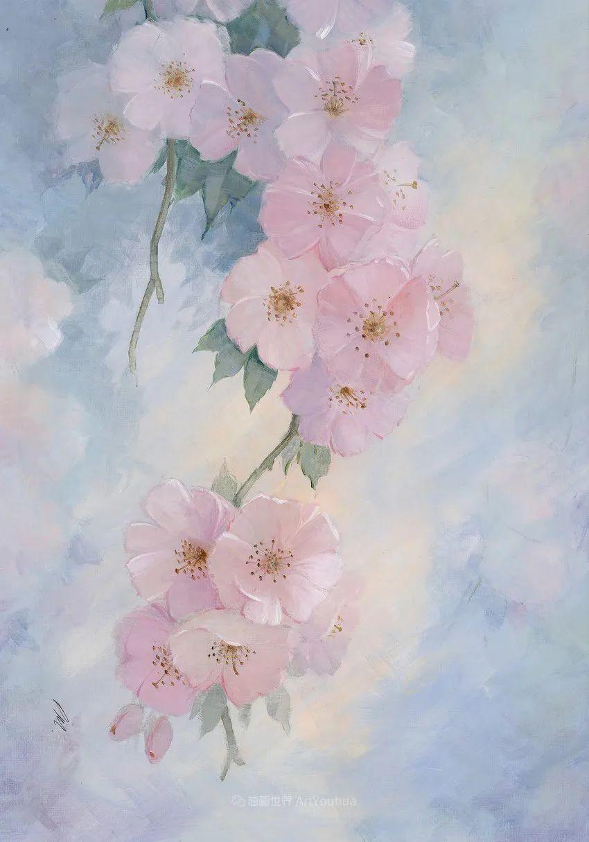 清新淡雅的花卉,英国画家彼得·麦高文插图3