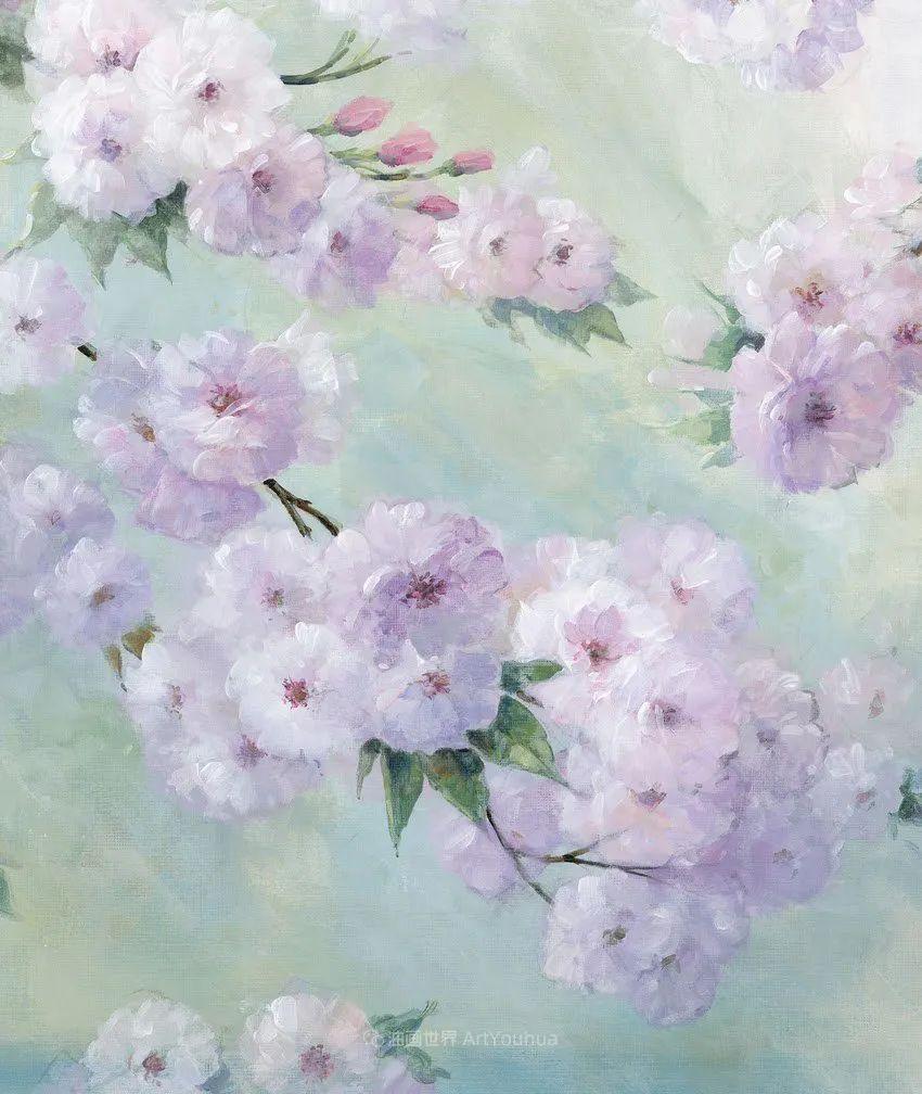 清新淡雅的花卉,英国画家彼得·麦高文插图5