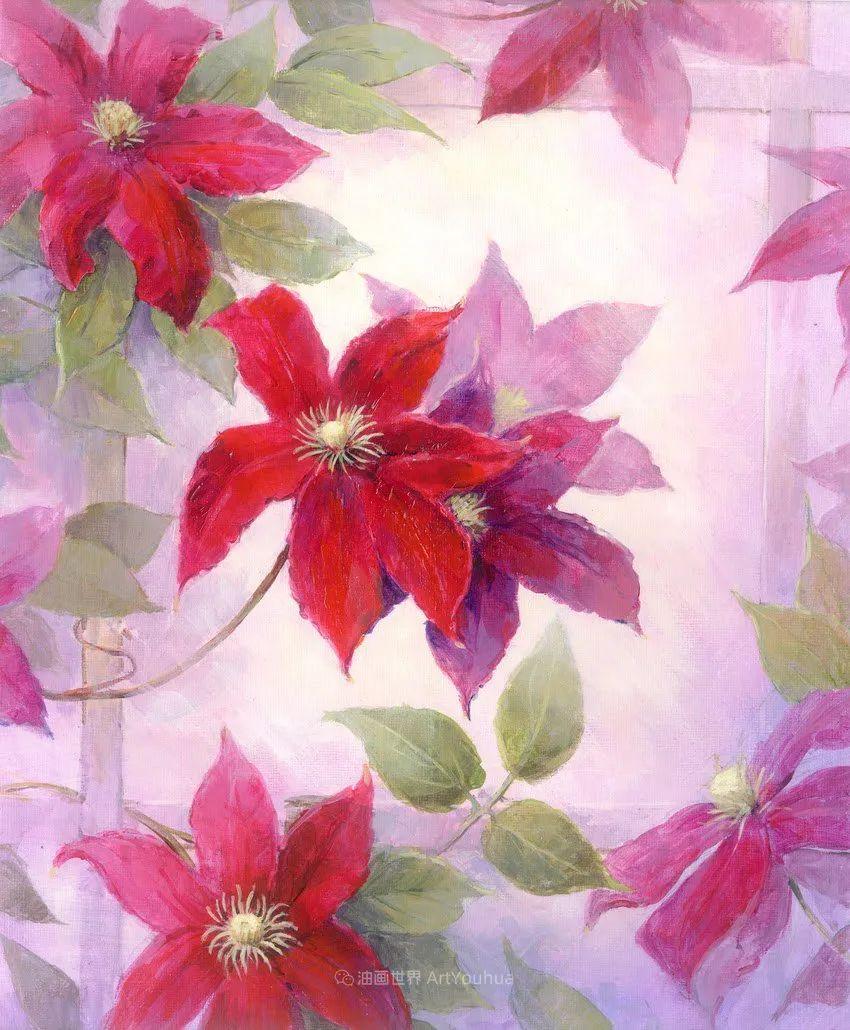 清新淡雅的花卉,英国画家彼得·麦高文插图7