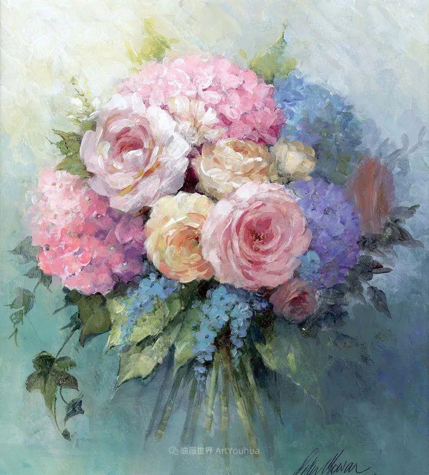 清新淡雅的花卉,英国画家彼得·麦高文插图9