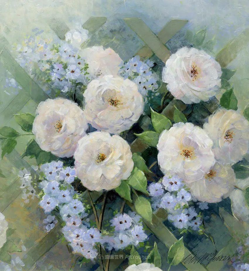 清新淡雅的花卉,英国画家彼得·麦高文插图13