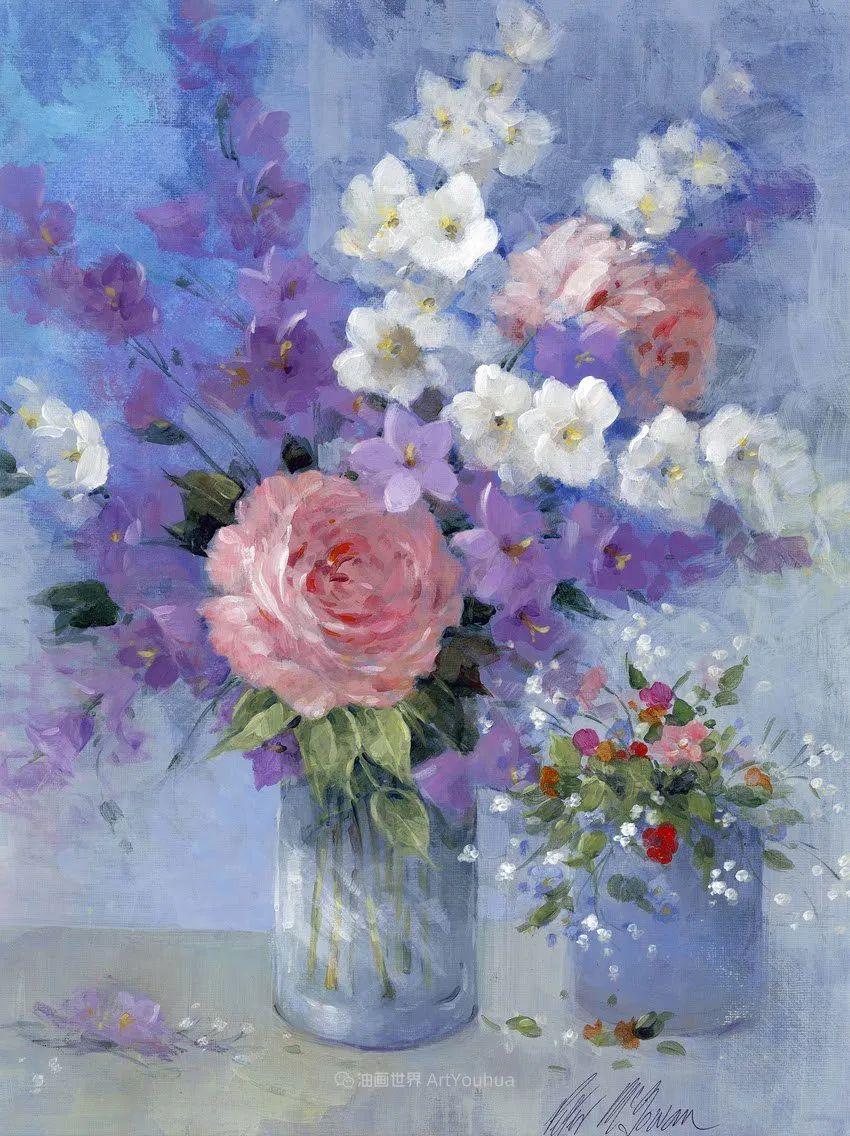 清新淡雅的花卉,英国画家彼得·麦高文插图17
