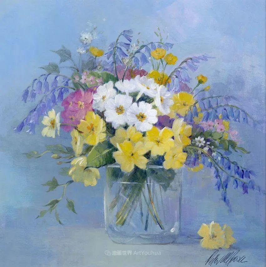 清新淡雅的花卉,英国画家彼得·麦高文插图19