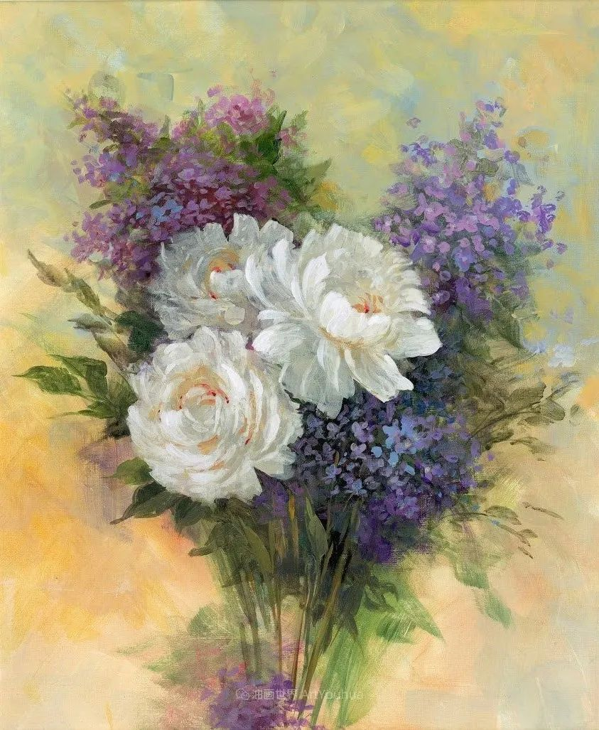 清新淡雅的花卉,英国画家彼得·麦高文插图23