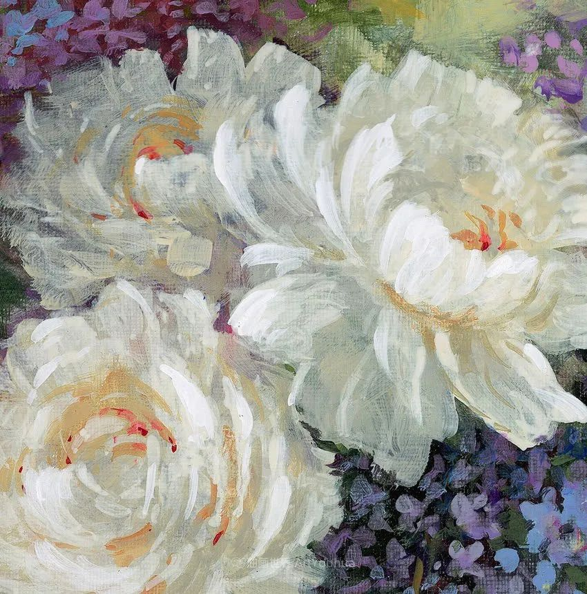 清新淡雅的花卉,英国画家彼得·麦高文插图27