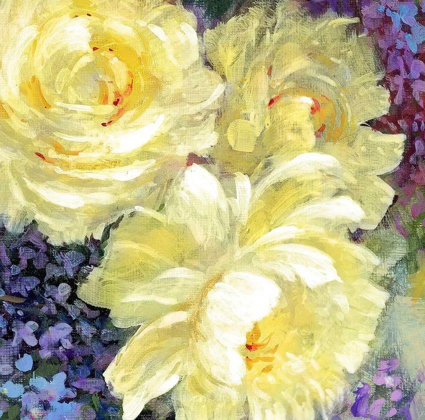 清新淡雅的花卉,英国画家彼得·麦高文插图29