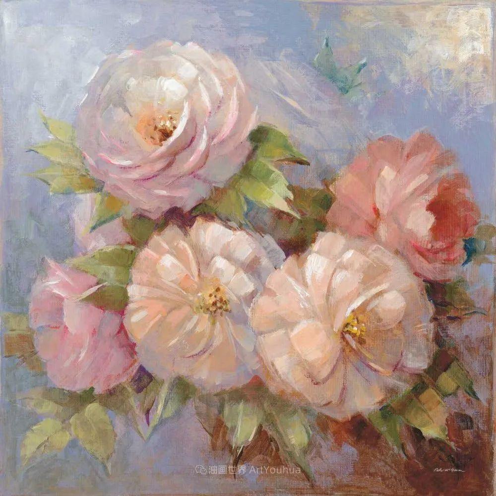 清新淡雅的花卉,英国画家彼得·麦高文插图39