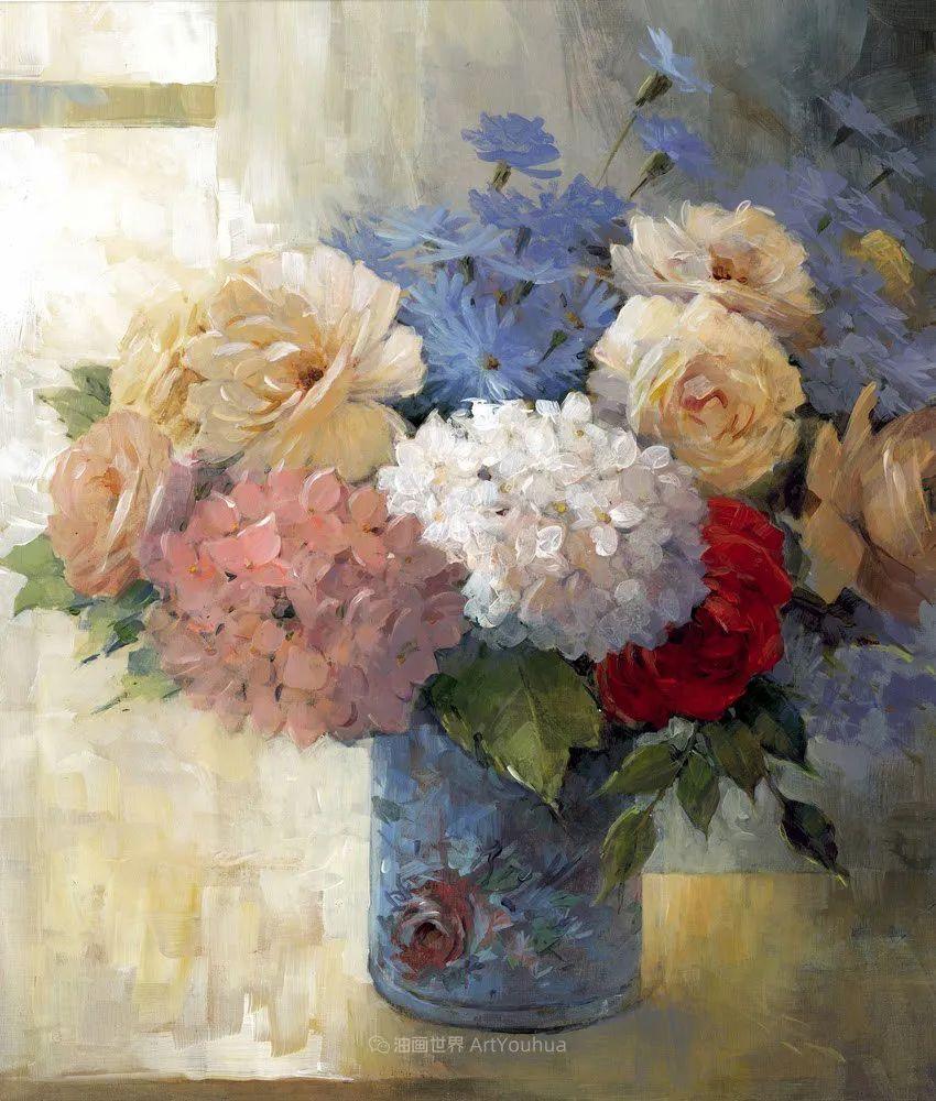 清新淡雅的花卉,英国画家彼得·麦高文插图41