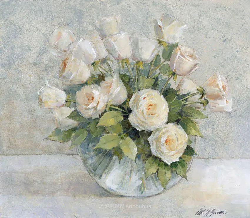 清新淡雅的花卉,英国画家彼得·麦高文插图49