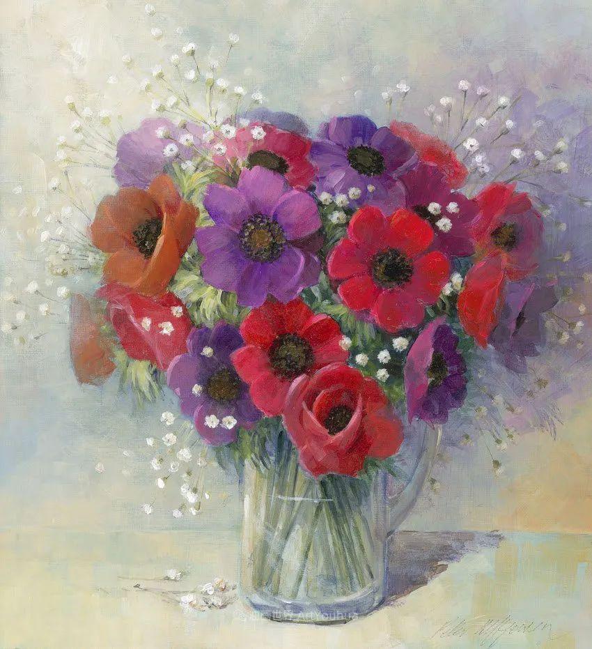 清新淡雅的花卉,英国画家彼得·麦高文插图51