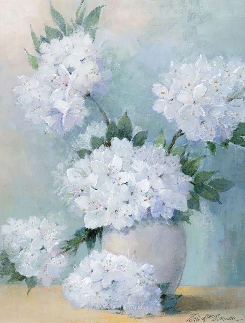 清新淡雅的花卉,英国画家彼得·麦高文插图53