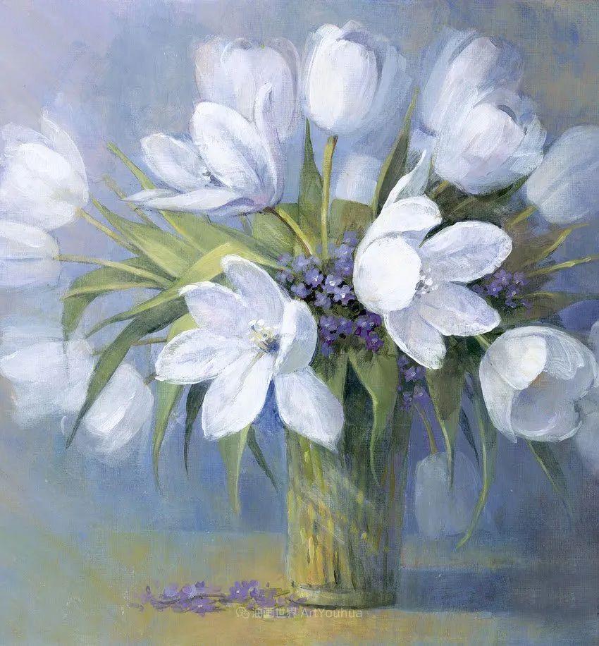 清新淡雅的花卉,英国画家彼得·麦高文插图55