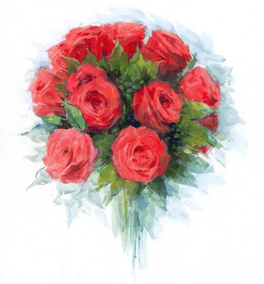 清新淡雅的花卉,英国画家彼得·麦高文插图59