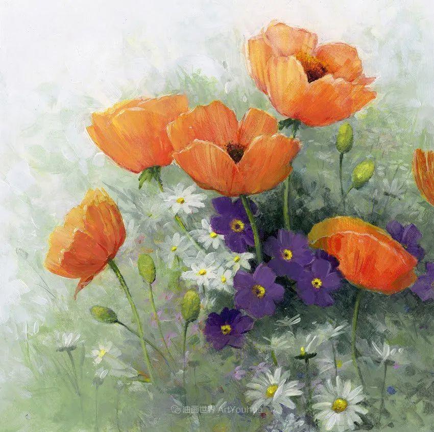 清新淡雅的花卉,英国画家彼得·麦高文插图61