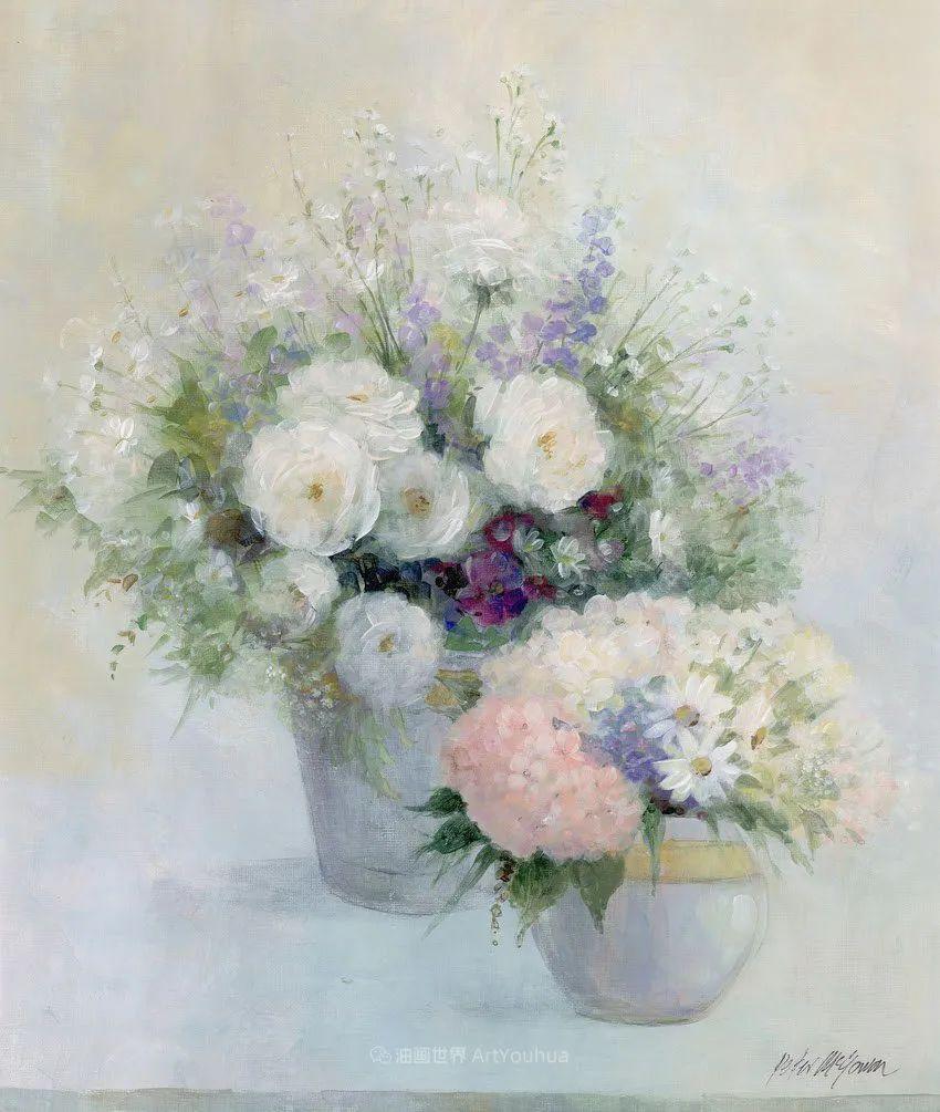 清新淡雅的花卉,英国画家彼得·麦高文插图67