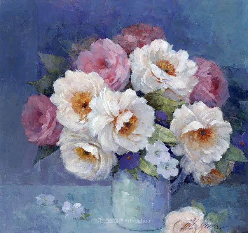 清新淡雅的花卉,英国画家彼得·麦高文插图69