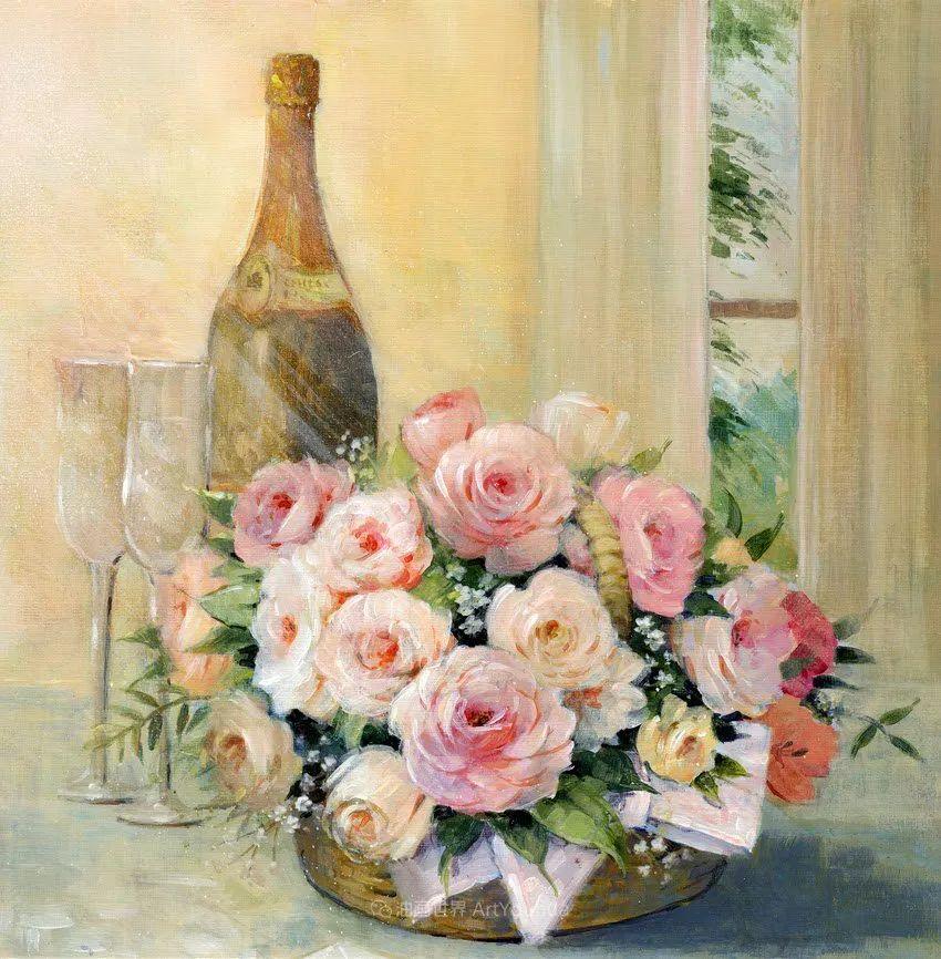 清新淡雅的花卉,英国画家彼得·麦高文插图71